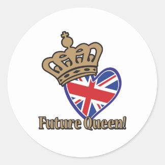 Future Queen Classic Round Sticker