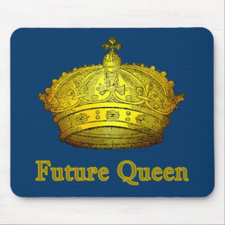 Future Queen with Gold Crown on Tshirts, Apparel Mouse Pad