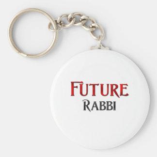 Future Rabbi Basic Round Button Keychain