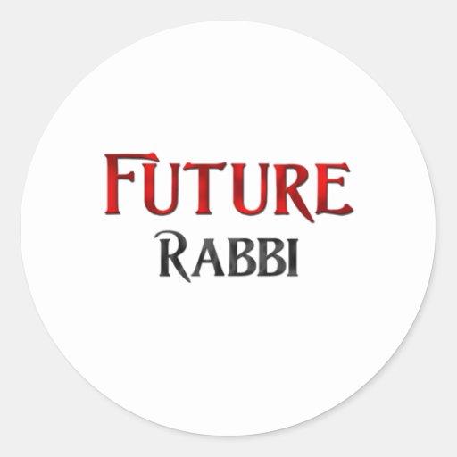 Future Rabbi Round Sticker