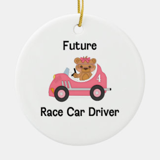 Future Race Car Driver (girl) Ceramic Ornament