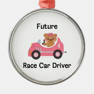 Future Race Car Driver (girl) Metal Ornament