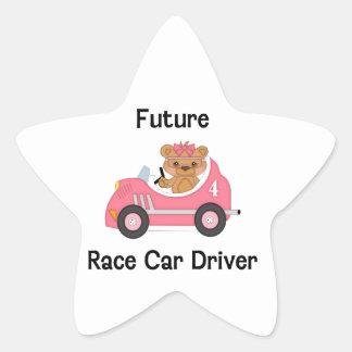 Future Race Car Driver (girl) Star Sticker