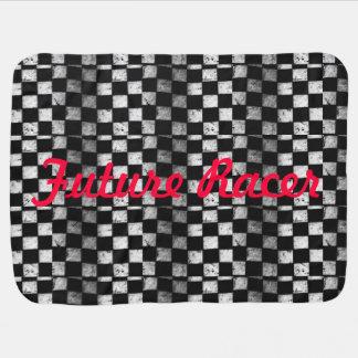Future Racer Checkered Flag Baby Blanket