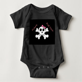 """Future Rad Tech""  skull with ribbon Baby Bodysuit"