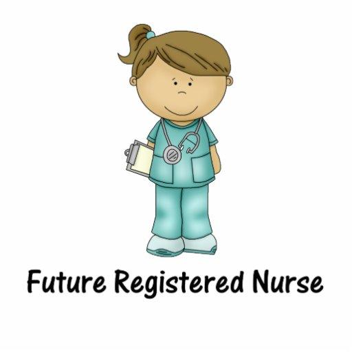 Cartoon Nurse In Scrubs Future registered nurse