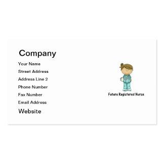 future registered nurse business card template