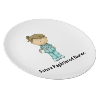 future registered nurse party plates