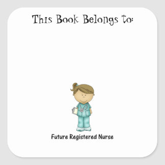 future registered nurse square sticker