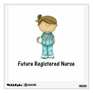future registered nurse wall decal