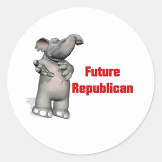 Future Republican Classic Round Sticker