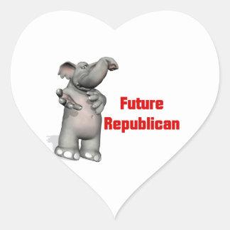 Future Republican Heart Sticker