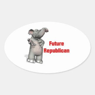 Future Republican Oval Sticker