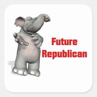 Future Republican Square Sticker