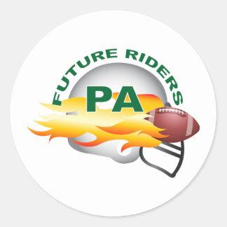 Future Rider-Logo 02 (1) Classic Round Sticker