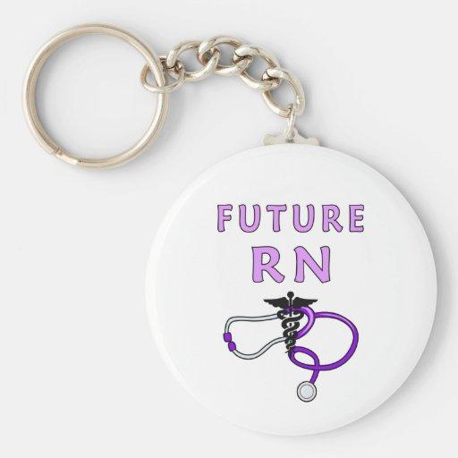 Future RN Basic Round Button Keychain