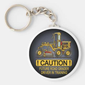 Future Road Grader Driver Key Chain
