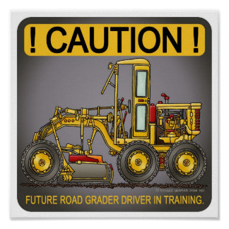 Future Road Grader Driver Poster Print