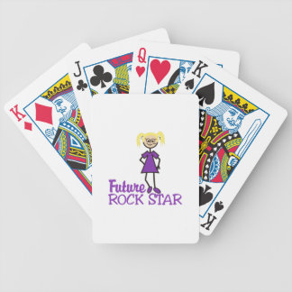 Future Rock Star Bicycle Playing Cards