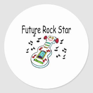 Future Rock Star Classic Round Sticker