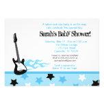 Future Rocker Baby Shower Invitation (Blue)