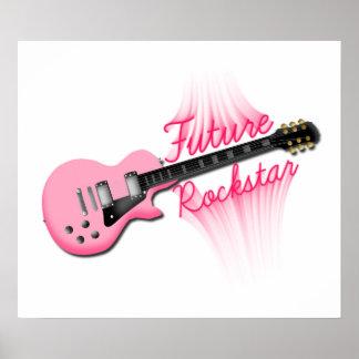 Future Rockstar pink guitar poster