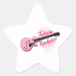 Future Rockstar pink guitar star sticker