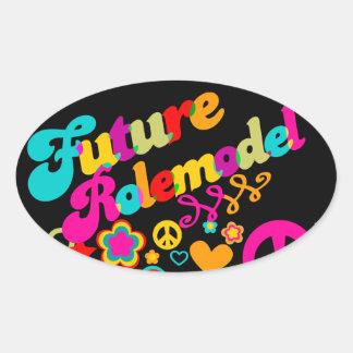 Future Rolemodel Oval Sticker