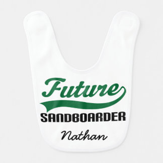Future Sandboarder Personalized Baby Bib