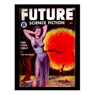 Future Science Fiction 13 (UK) [1953-01]_Pulp Art Postcard