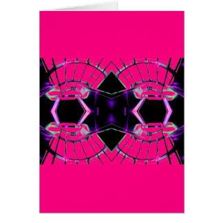 Future Science Girl Pink Girly Sci Stuff Card
