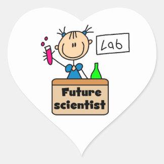 Future Scientist Heart Sticker