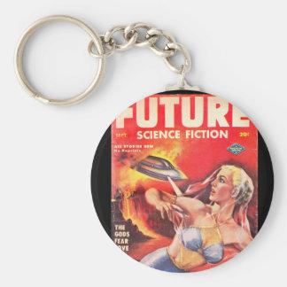 Future (series 2) v03 n03 (1952-09.Columbia)_Pulp Basic Round Button Keychain