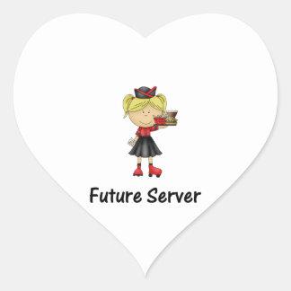 future server heart sticker