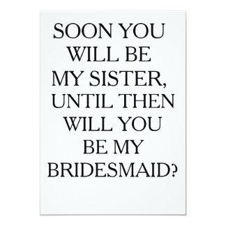 FUTURE SISTER BRIDESMAID CARD