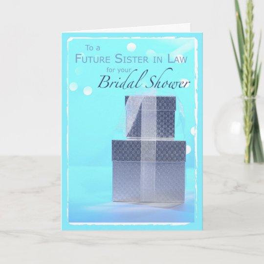 future sister in law bridal shower gifts thank you card