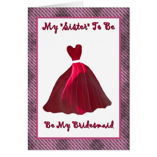 Future Sister-in-Law Bridesmaid Invitation
