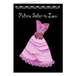 Future Sister-in-Law Bridesmaid Wedding Invitation Greeting Card