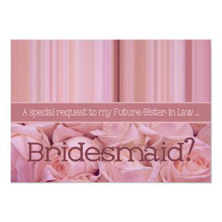 Future Sister in Law Please be Bridesmaid 5x7 Paper Invitation Card