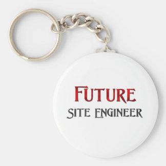 Future Site Engineer Basic Round Button Keychain
