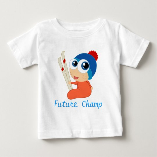 Future Ski Champ Baby Tee Shirt
