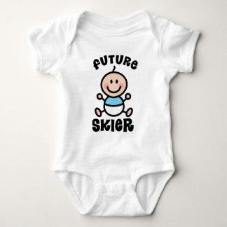 Future Skier Baby Gift Baby Bodysuit