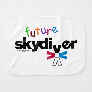 Future Skydiver Baby Burp Cloth