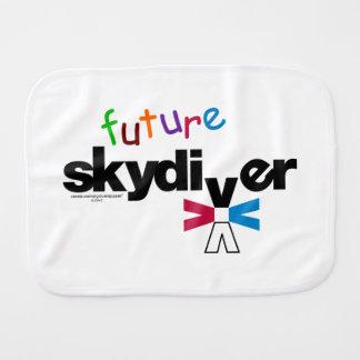 Future Skydiver Burp Cloth