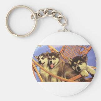 Future Sled Dog Champs Basic Round Button Keychain