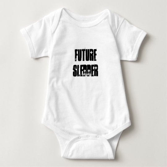 """Future Sledder"" Snowmobilers.com Baby Baby Bodysuit"