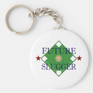 Future Slugger Basic Round Button Keychain