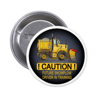 Future Snow Plow Truck Driver Button Pin