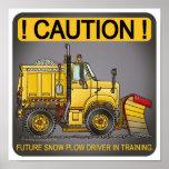 Future Snow Plow Truck Driver Poster Print