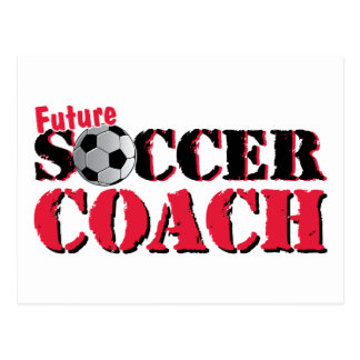Future Soccer Coach (red) Postcard